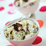 recette Recette de Riz au lait de coco et à la pistache