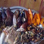 recette pintade farcie  et     légumes  recette trouvée  chez       kadérik  en cuisine