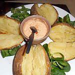 recette Pommes de terre au four et  creme au paprika