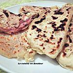 recette Naan jambon et fromage