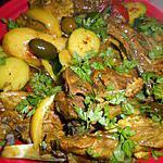 recette Tajine d agneau aux citrons confits et olives violettes