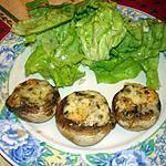Champignons farcis au Maroilles et aux herbes
