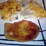 recette gratin de fonds d'artichaut,escalope de poulet panée