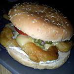 recette Burger au beignets de calamars