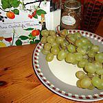recette RATAFIA  de raisins muscat