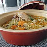 recette Soupe de poulet à l'orge et légumes de les Mille et un délices de  Lexibule