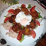 recette salade de chèvre chaud panée