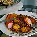 recette Lentilles au saucisses