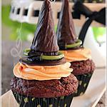 recette ~Cupcakes chapeau de sorcière~