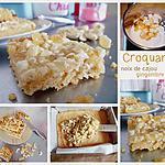 recette Croquants noix de cajou et gingembre confit