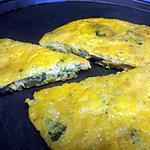 recette la frittata  au brocolis et lardon
