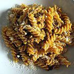 recette Fusilli à la crème de poivron rouge  et jaune