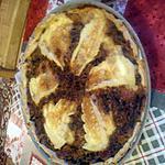 recette tarte feuilletée au oignons, champignons et reblochon