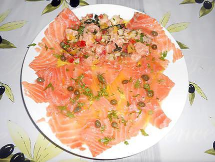 Ceviche de saumon et carpaccioi 430