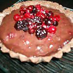recette Tartelettes chocolat & fruits rouges avec pâte sablée au chocolat