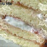 Gâteau roulé chantilly confiture de fraise