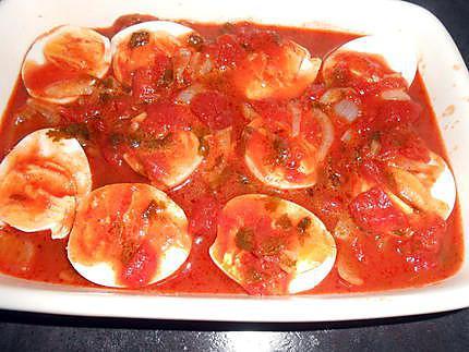 Oeufs durs à la tomate gratinés 430