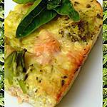 recette Quiche sans pâte Brocolis et Saumon