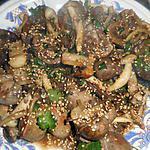 Rognons d agneau aux champignons saveurs d asie