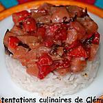 recette Tartare de saumon, fraise,nori sur lit de riz : un maki déstructuré !