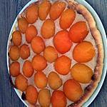 recette tarte abricot crème patissière à la pâte de calisson.