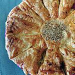 recette Feuilleté lardons, râpé, mozzarella, sauce tomates