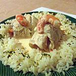 recette roulé de colin aux crevettes sauce au saumon