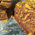 recette Comme un zebra cake à la courge et au chocolat
