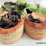 recette Bouchée à la reine escargots et cèpes