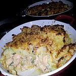 Parmentier de saumon et poireaux