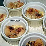 recette Noix de st jacques sur lit  fondue de poireaux
