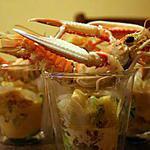 recette Salade Langoustine-avocat-pamplemousse