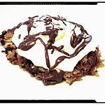 florentin revisité abricot-coco et ses pépites chocolat chantilly sauce nutella
