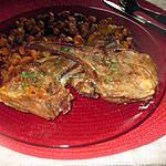 recette cotes  d  agneau  aux pois chiches,,courgettes ......