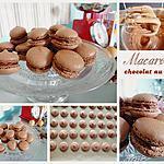 recette Macarons au chocolat au lait