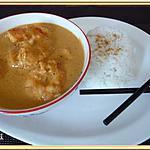 recette Gambas au curry