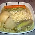 recette langue de boeuf ; cuisson et 1er étape .le bouillon et ses légumes