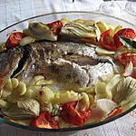 recette Daurade royale au four et ses légumes
