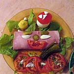 recette jambon macedoine tomate/oeuf