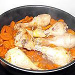 recette POULET AUX CAROTTES ET GINGEMBRE