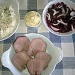 recette 3 éme service de la langue de boeuf ; froide et salades,