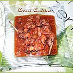 recette Lapin à la tomate et champignons