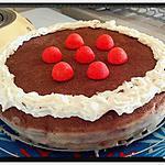 recette génoise sans oeufs au sarrasin fourrée à la fraise ganache chocolat blanc cacao