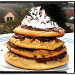 recette mille feuille de pancakes à la vanille garni nutella chantilly