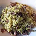 recette Risotto à la chair de sausisse & safran