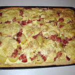 recette Pizza aux pommes de terre , jambon blanc et fromage à raclette
