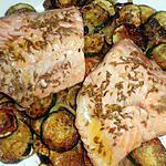 recette Pavé de saumon aux courgettes et cumin