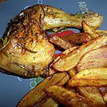 recette Cuisse de poulet rôti au miel et romarin