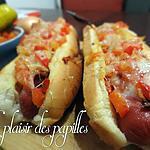recette ~Hot dogs garnis au four~
