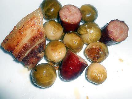 Choux de bruxelles lard et saucisse 430